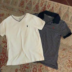 2 Polo shirts boys size 7